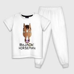 Пижама хлопковая детская BoJack Horseman цвета белый — фото 1