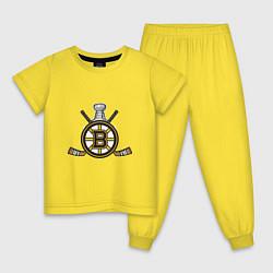Пижама хлопковая детская Boston Bruins Hockey цвета желтый — фото 1