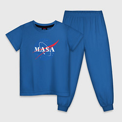 Пижама хлопковая детская NASA: Masa цвета синий — фото 1
