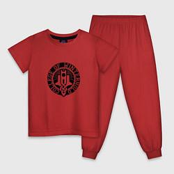 Пижама хлопковая детская College of Winterhold цвета красный — фото 1