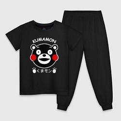 Пижама хлопковая детская Kumamon цвета черный — фото 1
