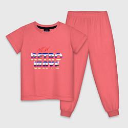 Пижама хлопковая детская New Retro Wave Epic цвета коралловый — фото 1