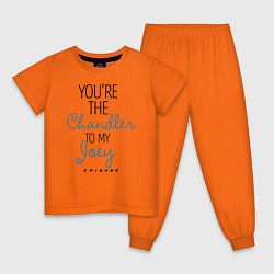 Пижама хлопковая детская Youre the Chandler to my Joey цвета оранжевый — фото 1