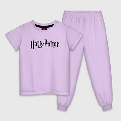 Пижама хлопковая детская Harry Potter цвета лаванда — фото 1