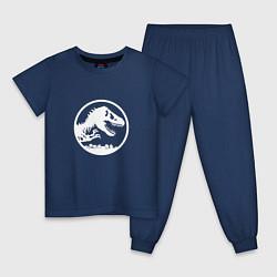 Пижама хлопковая детская Jurassic World цвета тёмно-синий — фото 1