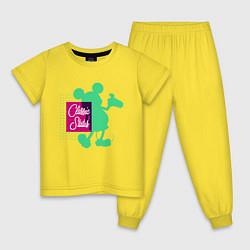 Пижама хлопковая детская Mickey Classic цвета желтый — фото 1