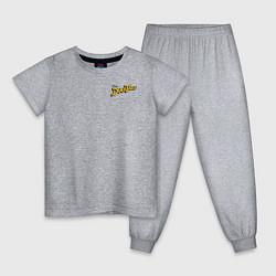 Пижама хлопковая детская Scrooge McDuck цвета меланж — фото 1
