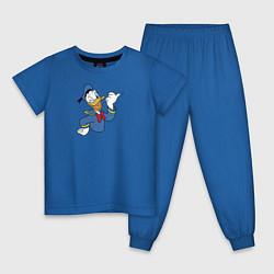 Пижама хлопковая детская Дональд Дак цвета синий — фото 1