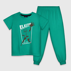 Пижама хлопковая детская Суперсемейка цвета зеленый — фото 1
