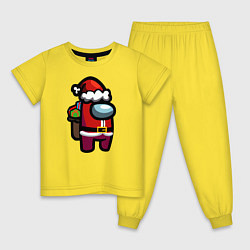 Пижама хлопковая детская AMONG US CHRISTMAS 1 цвета желтый — фото 1