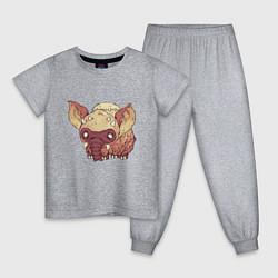 Пижама хлопковая детская Dont Starve цвета меланж — фото 1