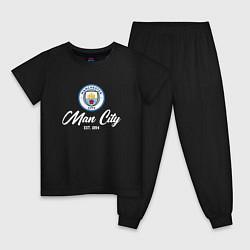 Пижама хлопковая детская MAN CITY EST 1894 цвета черный — фото 1