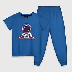 Пижама хлопковая детская ДИДЖЕЙ DJ Z цвета синий — фото 1