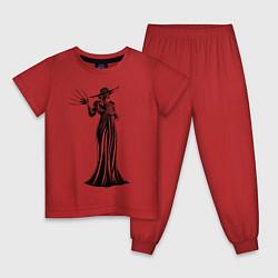 Пижама хлопковая детская Alcina Dimitrescu цвета красный — фото 1