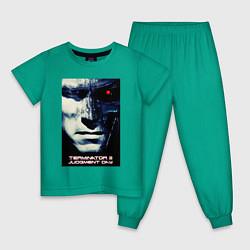 Пижама хлопковая детская Arnold T-800 цвета зеленый — фото 1