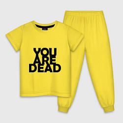 Пижама хлопковая детская DayZ: You are Dead цвета желтый — фото 1