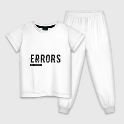 Пижама хлопковая детская Watch Dogs: Error цвета белый — фото 1