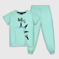 Пижама хлопковая детская The Beatles: break down цвета мятный — фото 1