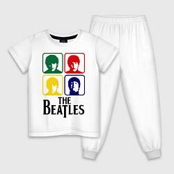 Пижама хлопковая детская The Beatles: Colors цвета белый — фото 1