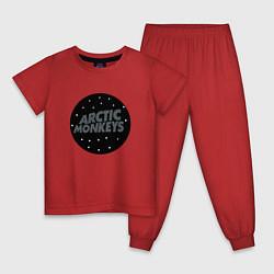 Пижама хлопковая детская Arctic Monkeys: Black цвета красный — фото 1