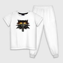 Пижама хлопковая детская Witcher 3 Wild Hunt цвета белый — фото 1