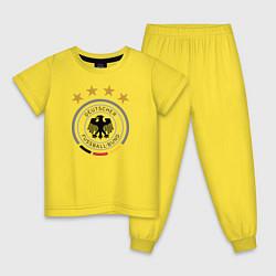 Пижама хлопковая детская Deutscher Fussball-Bund цвета желтый — фото 1