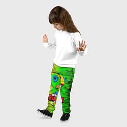 Детские 3D-штаны на резинке с принтом BRAWL STARS LEON, цвет: 3D, артикул: 10202000504927 — фото 2