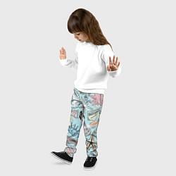 Брюки детские Морские обитатели цвета 3D-принт — фото 2