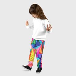 Брюки детские Радуга цвета 3D — фото 2