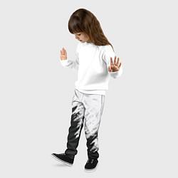 Брюки детские Черно-белый разрыв цвета 3D — фото 2