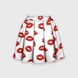 Юбка-солнце для девочки Поцелуйчики цвета 3D — фото 1