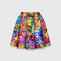 Юбка-солнце для девочки BRAWL STARS ALL цвета 3D — фото 1