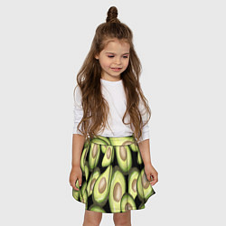 Юбка-солнце для девочки Avocado background цвета 3D — фото 2