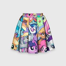 Юбка-солнце для девочки My Little Pony цвета 3D — фото 1