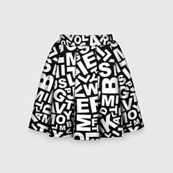 Юбка-солнце для девочки Английский алфавит цвета 3D-принт — фото 1