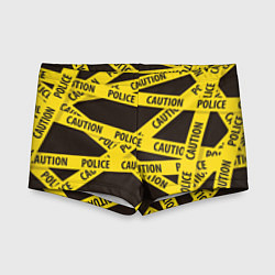 Плавки для мальчика Police Caution цвета 3D — фото 1