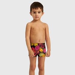 Плавки для мальчика Ассорти из роз цвета 3D — фото 2