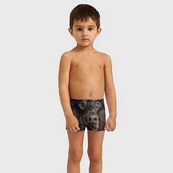Плавки для мальчика Глаза добермана цвета 3D — фото 2