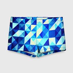 Детские плавки Синяя геометрия