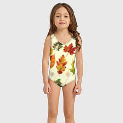 Купальник для девочки Осень цвета 3D — фото 2