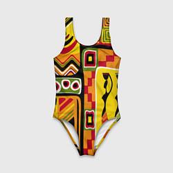 Купальник для девочки Африка цвета 3D — фото 1