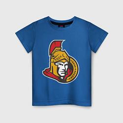 Футболка хлопковая детская Ottawa Senators цвета синий — фото 1