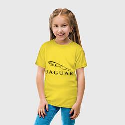 Футболка хлопковая детская Jaguar цвета желтый — фото 2