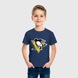 Футболка хлопковая детская Pittsburgh Penguins цвета тёмно-синий — фото 2