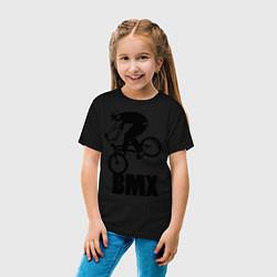Футболка хлопковая детская BMX 3 цвета черный — фото 2