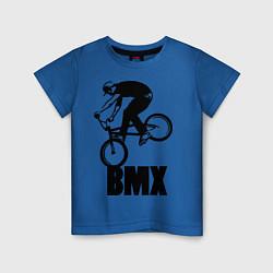 Детская хлопковая футболка с принтом BMX 3, цвет: синий, артикул: 10012778000014 — фото 1