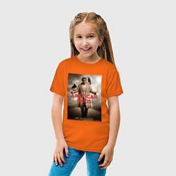 Футболка хлопковая детская American Gods: Mr. Wednesday цвета оранжевый — фото 2