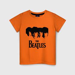 Футболка хлопковая детская The Beatles: Faces цвета оранжевый — фото 1