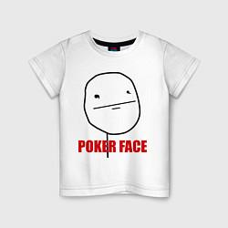 Футболка хлопковая детская Poker Face цвета белый — фото 1