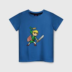 Футболка хлопковая детская Линк цвета синий — фото 1
